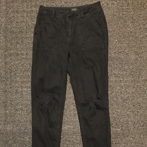 845c485b5b3 Topshop black high waisted boyfriend jeans